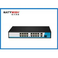 China Full / Half Duplex Unmanaged POE Switch 19 Port Uplink With 100 Meters Transmission Distance on sale