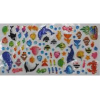 Sea World 3D Clear Puffy Animal Stickers , Clear Bubble Stickers