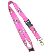 China cheap Chinese supplier cartoon character lanyard with buckle and dog hook 92 cm wholesale