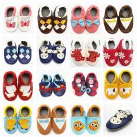 China children shoes soft sole cute pattern leather baby shoes on sale