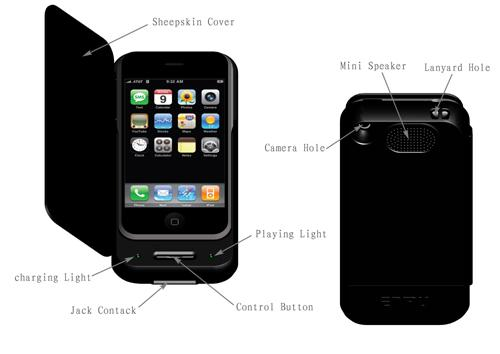 Quality Iphone external battery for sale