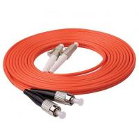 Buy cheap 1m (3ft) LC UPC to FC UPC Duplex 2.0mm PVC (OFNR) OM1 Multimode Fiber Optic from wholesalers