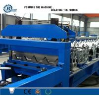 China Galvanized Steel Trapezoidal Sheet Metal Roll Forming Machines High Speed wholesale