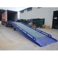 Buy cheap Galvanized Steel Container Mobile Yard Ramp Portable Loading Ramps from wholesalers