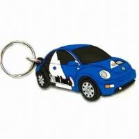 China Car Shape Keychain, Made of Soft PVC, Customized Designs are Welcome, Measures 40 x 30 x 35cm wholesale