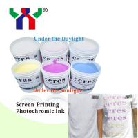 China High Quality Screen Printing Photochomric Ink / Solar Discoloration Ink For T-shirt Printing on sale