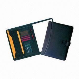 China Promotional Calculator Conference Folder, Leather wholesale