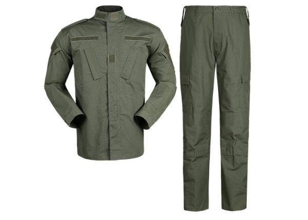Quality Olive Green Military Combat Uniform With Slanted Cargo Pockets For Law Enforcement for sale