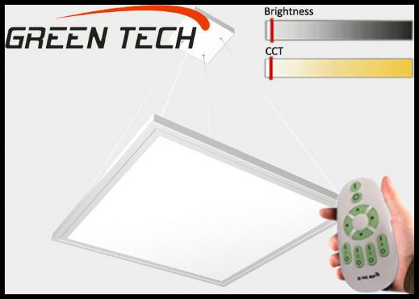 Quality 80lm/W Silvery Flat Square Led Lights , Remote Control Office Ceiling Panel Lights for sale