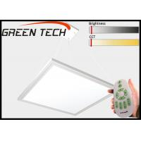 China 80lm/W Silvery Flat Square Led Lights , Remote Control Office Ceiling Panel Lights wholesale