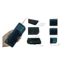 China Supply 2.4Ghz RF Mini wireless keyboard with mouse,laser,multi-touch pad wholesale