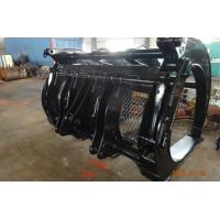Quality 3 m wide Hyundai HL770 loader wood grapple with 5 cum capacity for sale
