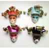 Custom Funny Orange Venetian Mask Brooch For Cloth Decoration