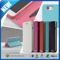 China PU Stand Iphone 6 Plus Premium Cell Phone Leather Cases With Card Slot wholesale