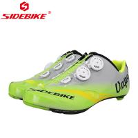 China Adjustable Buckle Mens SPD Cycling Shoes Bright Color Printed Low Wind Resistance wholesale