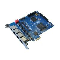 China Quad span 4 Port E1/T1/J1/PRI Card Asterisk anolog card with PCI-Express interface wholesale