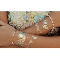 Temporary Metallic Tattoo Sticker Fashionable Gold Sliver For Adults