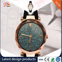 China Wholesale Women's Watches PU Watch Band Alloy Case PU Watches Color Dial with Diamond Fashion Watch wholesale