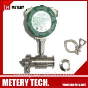 China Sanitary food grade turbine flow meter sensor MT100TB on sale