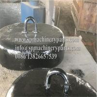 China Offshore platform marine mooring system heavy Capacity Oval Pattern Cast Iron Sinker 2Tons from china wholesale