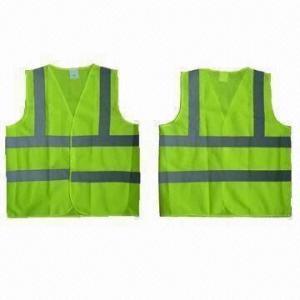 China Safety Vests, EN471/EN343 Standard, Made of 100% Polyester Mesh on sale