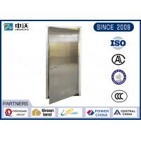 China Soundproof Stainless Steel Entry Door / Anti Theft Fire Rated Metal Doors wholesale