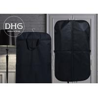 China Cotton Fabric Dance Garment Bags Black Washable Front Zippered Pocket wholesale