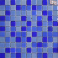 China 300x300mmDecorative Glass Mosaic Tile Swimming Pool,Blue color on sale
