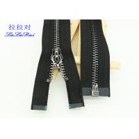 China Custom Clothing 15 # Heavy Duty Coat Zippers , Euro Teeth Auto - Lock Extra Large Zipper wholesale