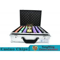 China Stripe Suited Casino Poker Chip Set , 12g Poker Chip Sets With Denominations wholesale