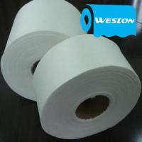China Spunlaced Nonwoven Fabric of spunlace non wovens in white color plain surface spun lace on sale