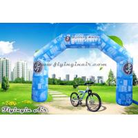China Full Printing Blue Inflatable Arch, Air Sports Archway, Advertising Arch for Sale wholesale