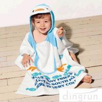 China Super Soft Boys Towel Poncho , Personalised Poncho Towels For Toddlers wholesale
