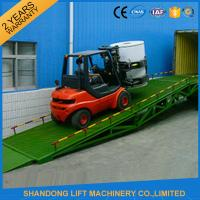 China Shipping Container Heavy Duty Industrial Loading Ramps , Steel Loading Dock Truck Ramps wholesale