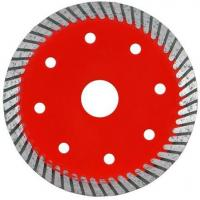 China Durable Turbo Wave Diamond Tile Saw Blade With Cooling Hole Red Color wholesale