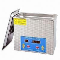 Heated Ultrasonic Cleaner with 100W Power, Adjustable Temperature Setting from 0 to 176°C