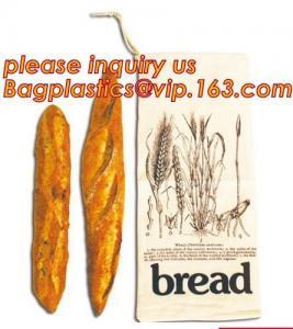 China Fashion Logo Printed Cotton Bread Bag,quality eco 100% cotton bread bag,cotton flannel bread bag drawstring,bakery food on sale