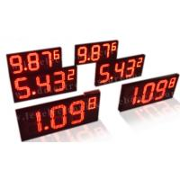 China IP65 Electronic Gas Price Signs For Oil Station Aluminium Frame / Iron Cabinet on sale