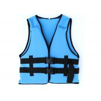 China Comfortable Blue Watersport Life Jackets Neoprene Swimming Life Jack For Protection wholesale