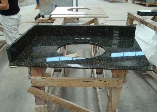 Quality Dark Green Uba Tuba Granite Countertops , Polished Granite Stone Countertops for sale