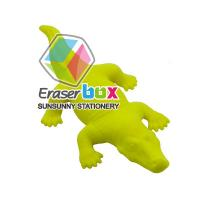 China SEA057 Crocodiel animal shaped eraser, promotional funny erasers, Various packagings for selection Animal Shaped Erasers wholesale