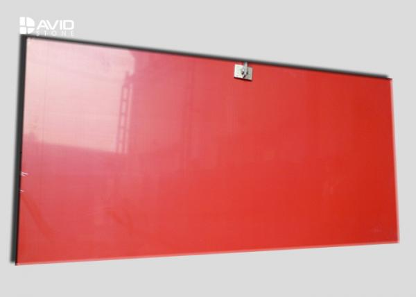 Quality Red Color Natural Quartz Countertop Slabs 3200x1600mm High Strength Indoor Use for sale