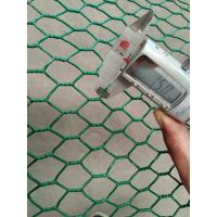 China 1  PVC Coated Chicken Wire Garden Fence1.5mm Thick Galvanized Hexagonal Wire Mesh on sale