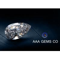 China Enhanced Pear Shaped Moissanite Colorless 3 Carat Polished Good on sale