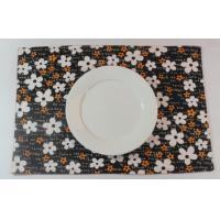 Oriental Brown Floral Dining Table Mats Kitchen Table Placemats