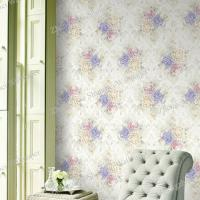China Room Decor Non-Woven Wallpaper with Roses Flower wholesale