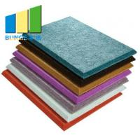 China Eco - Friendly Cinema Colorful Polyester Acoustic Panels / Acoustic Boards For Walls wholesale