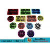 China 12g Bright Color Crystal Acrylic Poker Chips High Wear Resistance wholesale