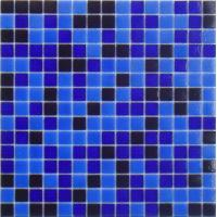 China mixed blue glass tiles wholesale