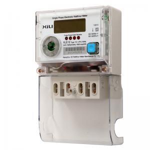 China Single Phase Multifunction Energy Meter / Polycarbonate digital electronic energy meters wholesale